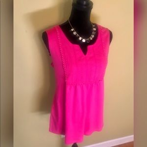 NWT Pink Sleeves Top by Kim Rodgers